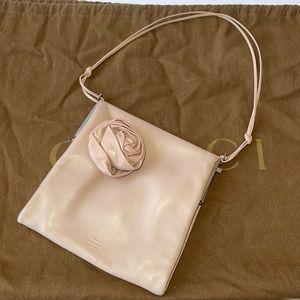 Authentic Gucci lambskin rose baguette pochette